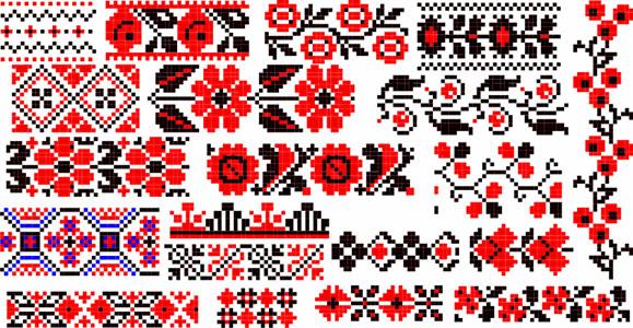 Орнамент народных вышивок